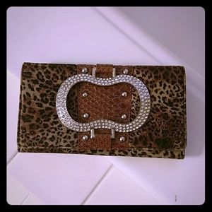 Handbags - Brown with bling wallet like new